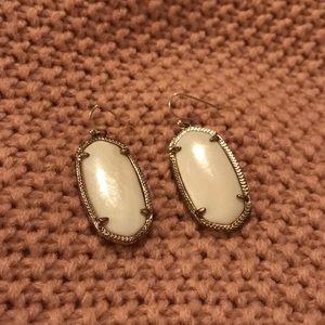 Kendra Scott Elle Earrings • White & Gold